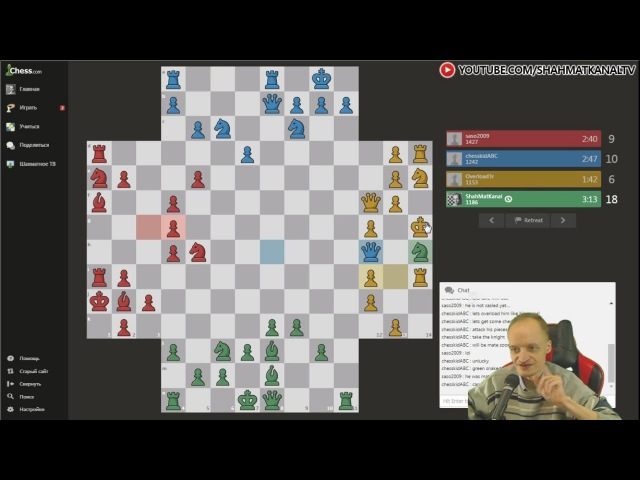 Шахматы вчетвером Тест варианта шахмат на чесском