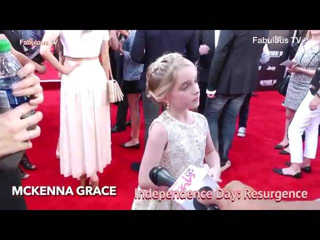 Mckenna Grace on the red carpet of Indrpendence Day Resurgence