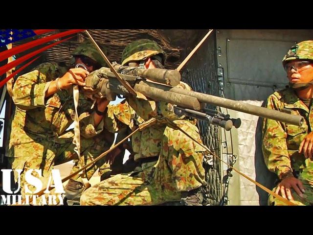 陸上自衛隊31859;陸軍 エアリアル(空中)スナイパー訓練 - US Army JGSDF Aerial Sniper Training