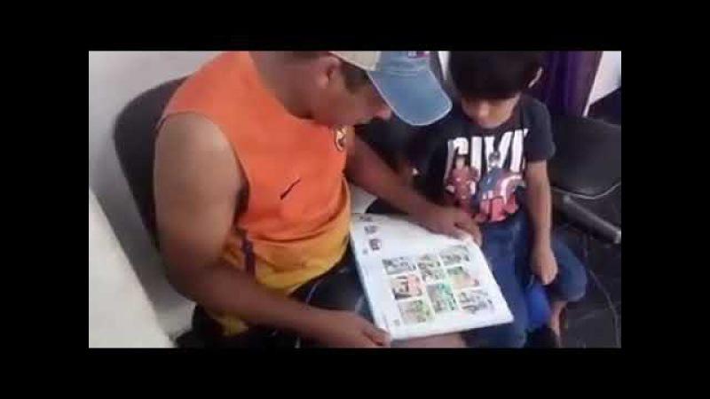 Pai fica indignado com dever de casa do filho