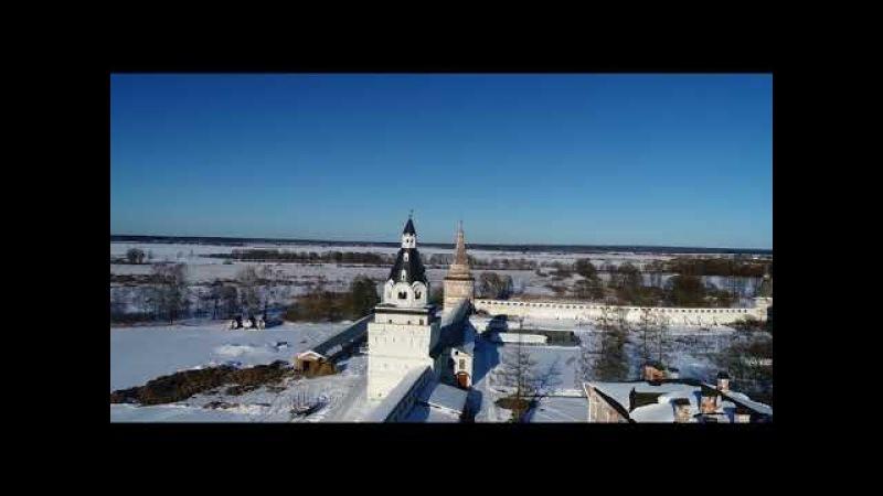 Иосифо-Волоцкий монастырь. Полёт вокруг монастыря
