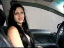 Estudante de direito bebada tenta fumar dinheiro e ligar carro com canudo no ES - 2012