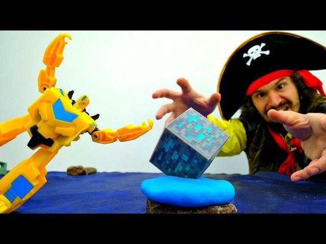 Видео для детей. Энергон ЗЛА ⚡️ Драка Автоботы и Пираты ☠ Игры Трансформеры И ...