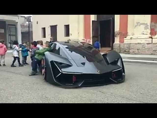 Lamborghini Terzo Millennio Concept||Kids getting excited over this concept