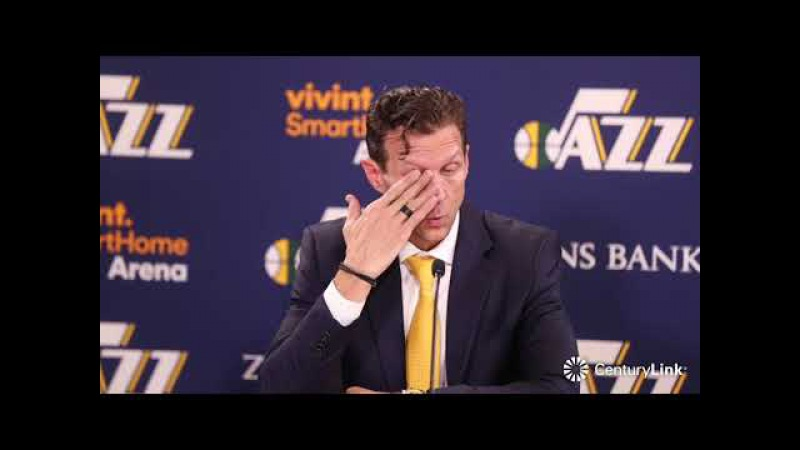 Quin Snyder Postgame Interview | Spurs vs Jazz | February 12, 2018 | 2017-18 NBA Season