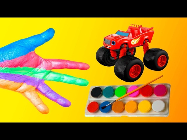Learn colors with Blaze and the Monster Machines finger family nursery rhymes