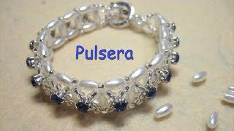 DIY - Pulsera de topacios y perlas de arroz DIY - Bracelet of topaz and rice pearls