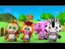 дождь дождь уйти | Детские песни | мультфильмы для детей | Little Treehouse | Rain Rain Go Away