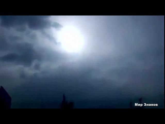 Странно Солнце мигает в Бенине Нигерия