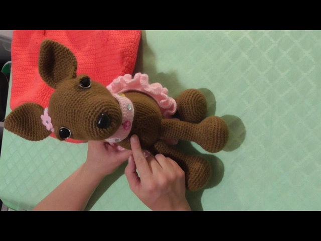 Игрушка крючком - собачка чихуахуа в сумке. Часть 1 (туловище, лапы, хвост, шея).