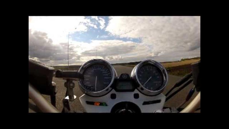 Разгон до 100 на Yamaha XJR