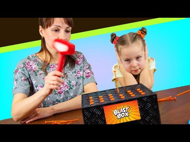 взрывная коробка Челлендж с воздушными шарами BLAST BOX challenge с папой