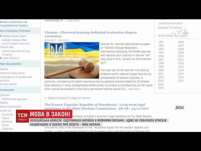 Венеціанська комісія підтримала Україну щодо мовного питання у законі про освіту