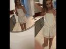 Sexy slim teen girl shows her boobs and dick - девушка показывает член