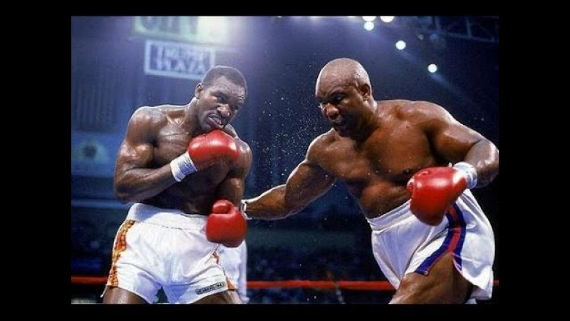 Evander Holyfield vs George Foreman Highlights HEAVYWEIGHT Battle of the Ages