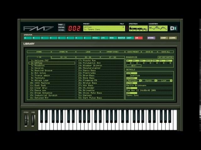 Native Instruments FM7: Vintage VST Synth, Nu-Disco Demo by al l bo
