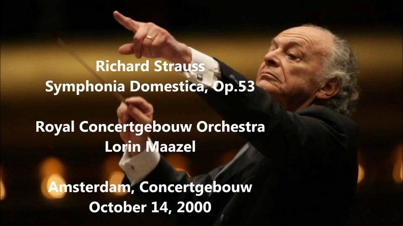 Richard Strauss: Symphonia Domestica - Lorin Maazel (HD 1080p - Audio video)
