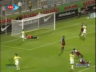 SL 2008-09. Trabzonspor 1-2 Fenerbahce (highlights)