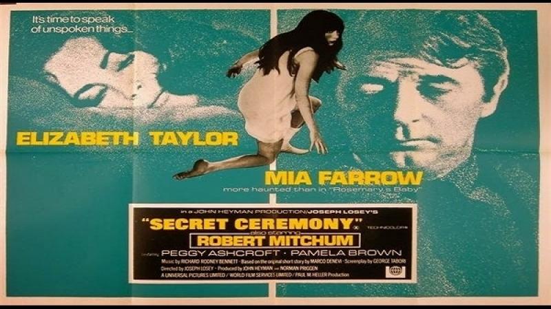 1969 Joseph Losey,- Cerimonia segreta --Elizabeth Taylor, Mia Farrow, Robert Mitchum, Pamela Brown e Peggy Ashcroft