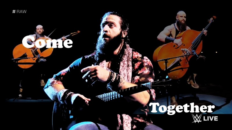 Come together (Braun Strowman bashes Elias with a bass: Raw, Feb. 12, 2018)