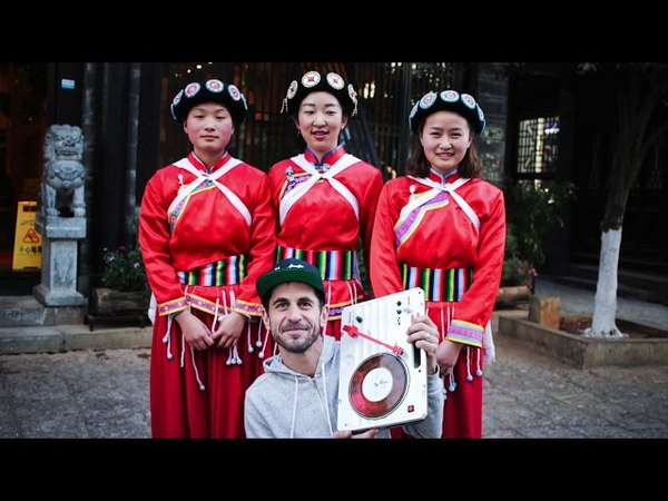 DJ Brace in the Old Town of Lijiang, China
