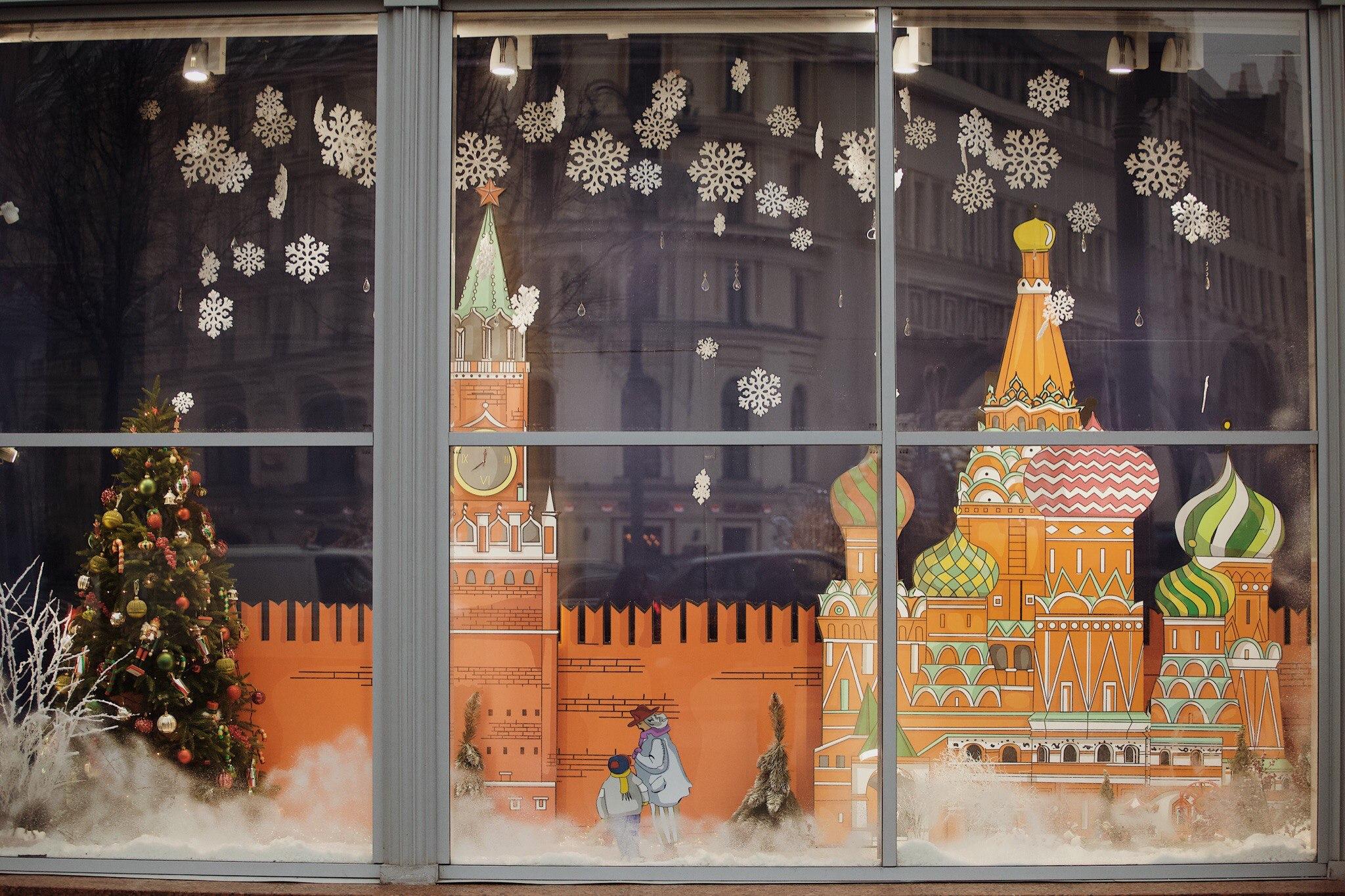 новогодняя витрина для магазина картинки метод защита