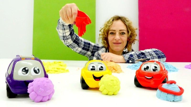 Plätzchen für Spielzeugautos. Kneten mit Nicole.