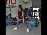 Стефани Кохен, тяга 205 кг на 7 раз