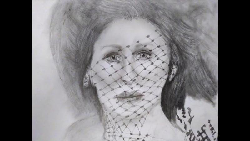 Norma Desmond Glenn Close Sunset Blvd. Drawing