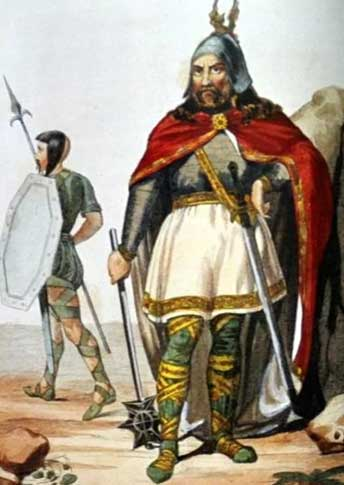 Воины остготов в 5 веке