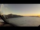 Потрясающе красивое видео посадки самолета, снятое из кабины пилота