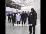 Премьер-министр России Дмитрий Медведев и глава Чечни Рамзан Кадыров посетили тепличный комплекс «ЮгАгроХолдинг» в Грозном.