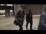 New Mom Rosie Huntington-Whiteley Is Back In Black At LAX