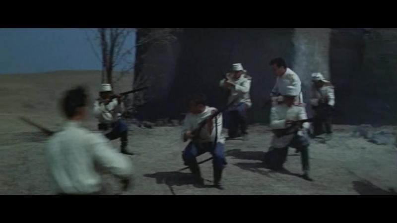 Триумф Михаила Строгова (1961). Бой туркменской конницы с русскими