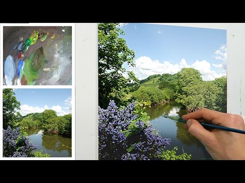 How To Start an Oil Painting - Blocking In | Oil Painting Tutorial