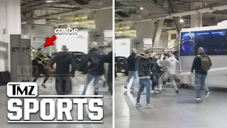 Insane Alternate Angle of Conor McGregor Bus Attack | TMZ Sports insane alternate angle of conor mcgregor bus attack | tmz sport