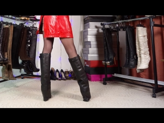CARAVELLE Extreme High Heels Knee Boots Leather Italy Stiefel
