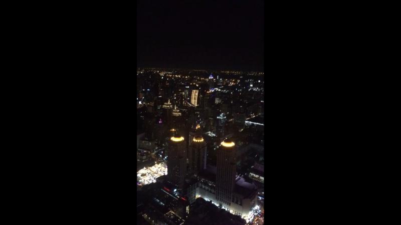 Банкок ночной с башни Байок скай