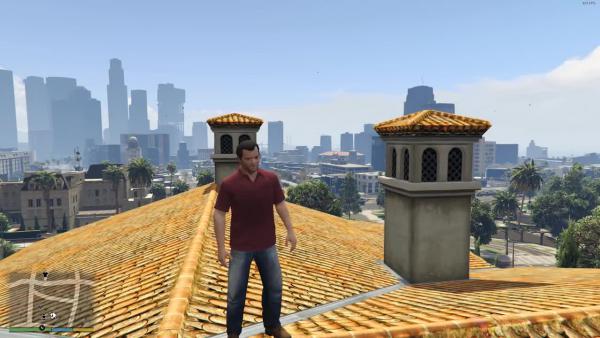 Огромный годзилла против Лос Сантос! (GTA 5)