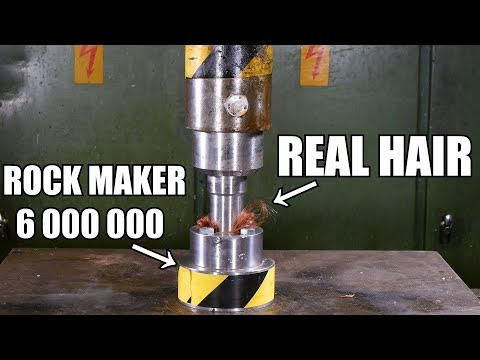 Can You Turn Hair to Stone with Hydraulic Press