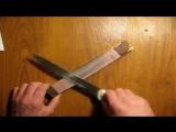 Как заточить нож за 6,5 минут до остроты бритвы