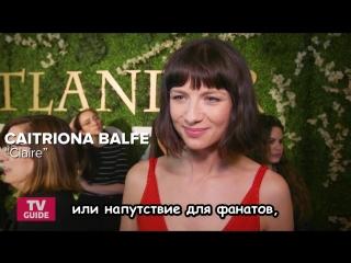 Катрина Балф и Сэм Хьюэн - интервью для TV Guide на панели EMMY rus sub