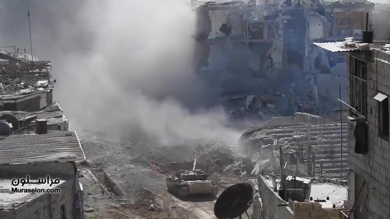 Противостояние у Черного камня между танком сирийской армии и террористами ИГ