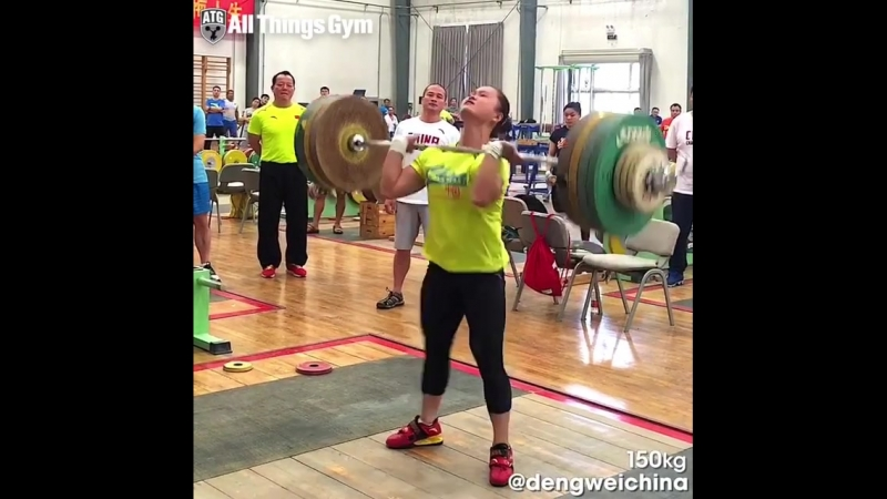 150kg Clean Jerk by (63kg, China)