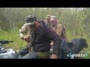 Салдинский участковый спас в тайге мужчину. Кадры спасения