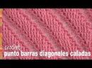 Punto barras caladas diagonales tejido a crochet (imitación 2 agujas) - Tejiendo Perú