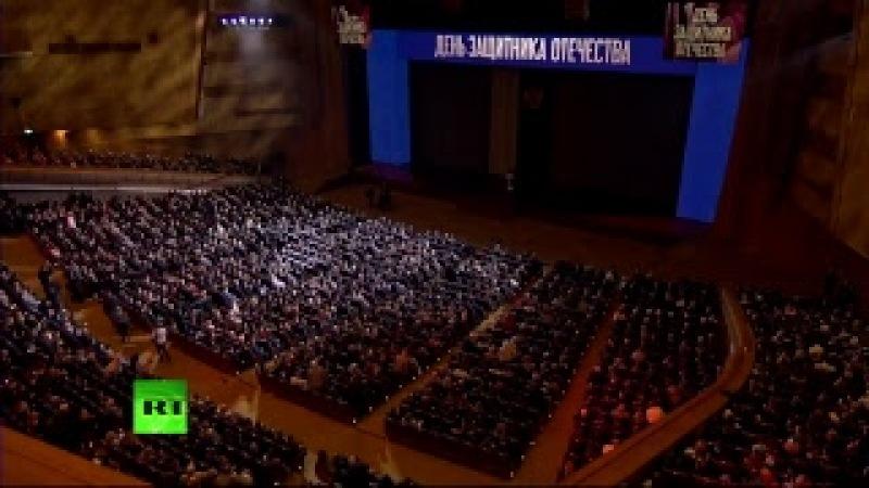 В преддверии праздника: речь Путина на День защитника Отечества