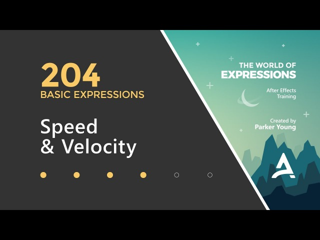 After Effects Expressions 204 - Speed Velocity