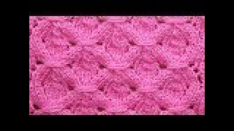 Ажурно-рельефный узор Вязание спицами Видеоурок 276