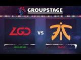 LGD vs Fnatic Game 3 - DOTA Summit 8: Group C - @Arteezy @CCnC @Blitz @Bulba
